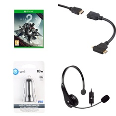 3 Pallets – 422 Pcs – Video Games – Cables & Adapters, Batteries & Chargers, Microsoft – Customer Returns – Onn, Activision, Blackweb, Sony