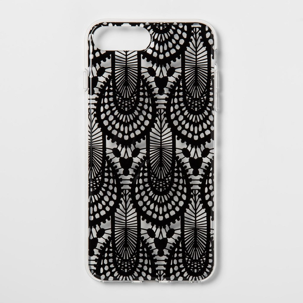 best sneakers e7495 423d6 28 Pcs - heyday Apple iPhone 8 Plus/7 Plus/6s Plus/6 Plus Printed Lace  Case, Black - Stylish - New Damaged Box, New, Like New, Open Box Like New -  ...