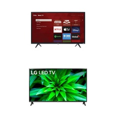 5 Pcs – LED/LCD TVs – Refurbished (GRADE A) – TCL, LG