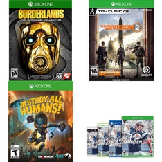 16 Pcs – Microsoft Video Games – Used, Open Box Like New, New – Borderlands: The Handsome Collection (Xbox One), Tom Clancy's The Division 2 – Xbox One, Destroy All Humans! (XB1), Madden NFL 17 [Xbox One]