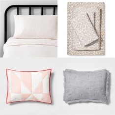 150 Pcs – Bedding Sets, Sheets & Pillowcases – New – Retail Ready – Hearth & Hand with Magnolia, Hearth & Hand with Magnolia, Pillowfort, threshold