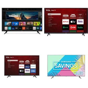 32 Pcs – LED/LCD TVs – Refurbished (GRADE A) – VIZIO, TCL, Samsung