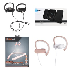 Pallet – 392 Pcs – In Ear Headphones, Batteries, Shelf Stereo System – Customer Returns – Blackweb, Onn, Rayovac, ENERGIZER