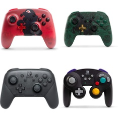 16 Pcs – Nintendo Controllers – Refurbished (GRADE A) – Models: Nintendo Switch Wireless Super Mario Controller – Red, HACAFSSKA, Wireless Controller GameCube Style Black for Nintendo Switch, 500-181-NA-NLBL