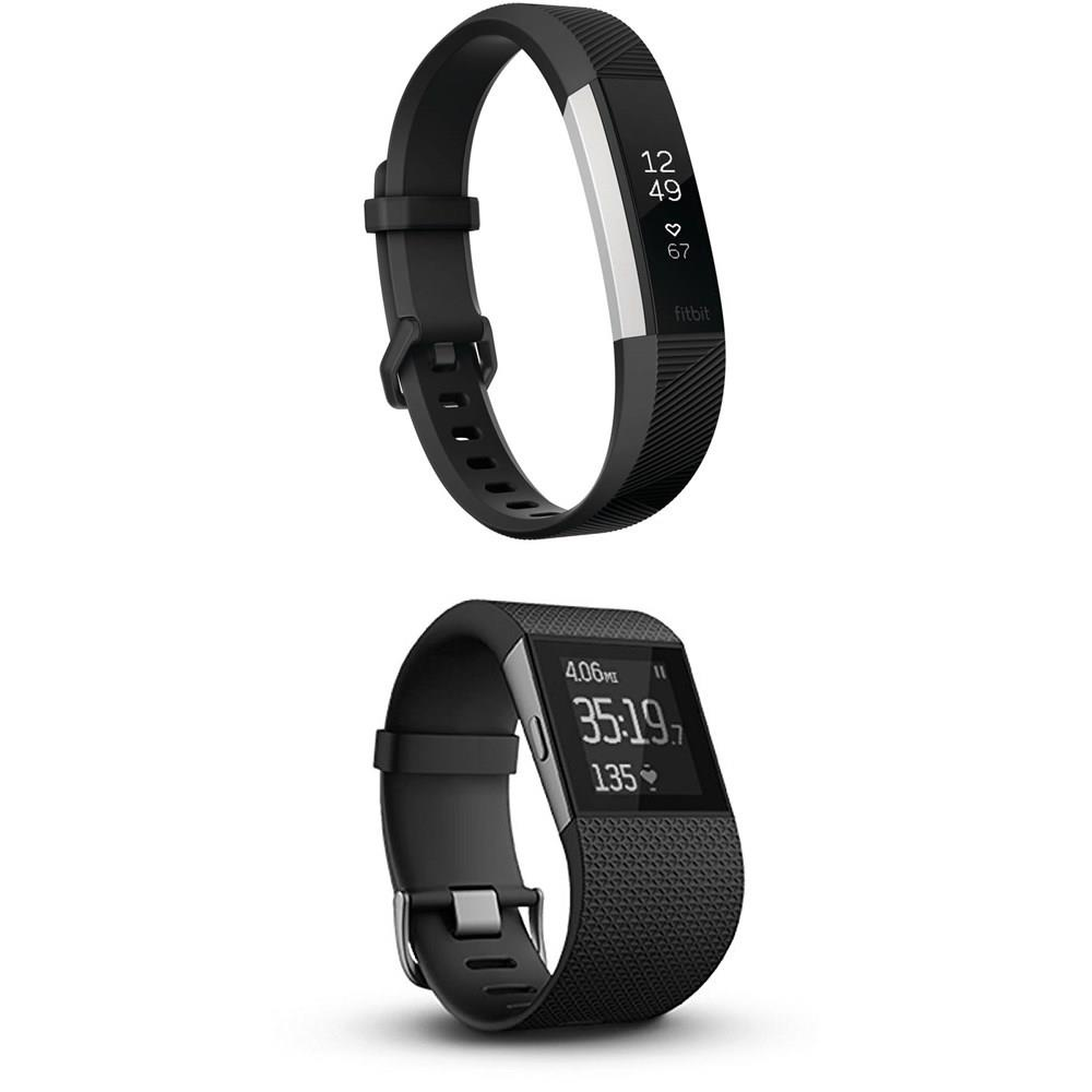 Black Band Fitbit Alta HR Heart Rate Fitness Activity Tracking Wristband SMALL
