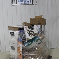 3 Pallets - 141 Pcs - Covers, Mattress Pads & Toppers, Hardware, Other, Speakers - Customer Returns - Mainstays, Peerless, Kidde, iLive