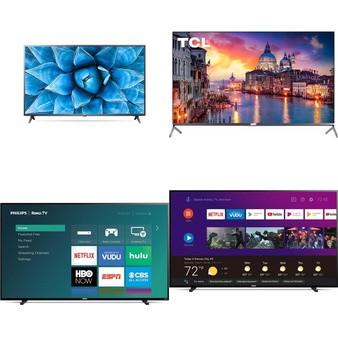 60 Pcs – LED/LCD TVs – Refurbished (GRADE A, GRADE B) – LG, Philips, TCL