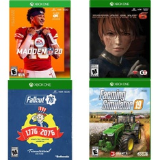 93 Pcs - Microsoft Video Games - New, Used, Like New, Open Box Like New, New Damaged Box - Madden NFL 20 (XB1), Fallout 76 Tricentennial Edition (XB1), Farming Simulator 19, Maximum Games, Xbox One,, Dead or Alive 6, Konami, XBOX ONE