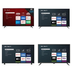 60 Pcs – LED/LCD TVs – Refurbished (GRADE A, GRADE B) – Onn, TCL, onn.