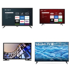 5 Pcs – LED/LCD TVs – Refurbished (GRADE A) – Onn, TCL, Samsung, LG