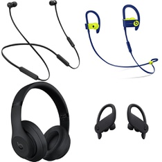 64 Pcs – Apple Beats Headphones – Refurbished (GRADE D, No Packaging) – Models: MTH52LL/A, MREQ2LL/A, MQ562LL/A, MV6Y2LL/A