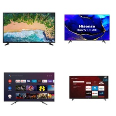 Truckload – 20 Pallets – 177 Pcs – TVs – Tested Not Working (Cracked Display) – HISENSE, Samsung, LG, TCL