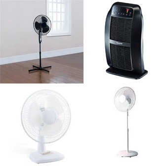 Pallet – 63 Pcs – Fans, Heaters, Air Conditioners – Customer Returns – Mainstays, Mainstay's, Honeywell, HomeTrends