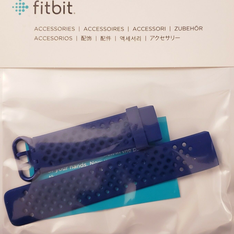 Fitbit Charge 3 Accessories Sport Band Navy Blue Large size - Brand New