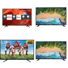 8 Pcs – LED/LCD TVs – Refurbished (GRADE A) – Samsung, SHARP, RCA, TCL