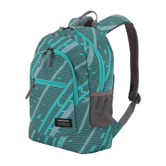 100 Pcs – Swissgear 980184388 Laptop Backpack (Blue Grass/Urban Heather Track Print) – New – Retail Ready