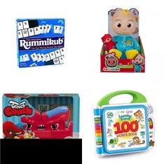 Pallet – 174 Pcs – Boardgames, Puzzles & Building Blocks, Action Figures, Not Powered – Customer Returns – Pressman Toy, Grouch Couch, LeapFrog, Funko
