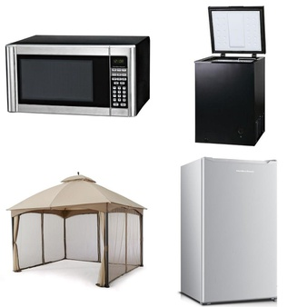 Pallet – 8 Pcs – Microwaves, Bar Refrigerators & Water Coolers – Customer Returns – Hamilton Beach, Arctic King, HomeTrends, Hamilton