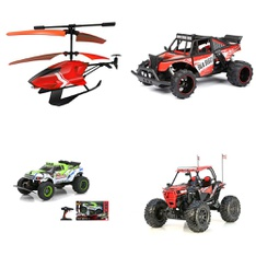 3 Pallets – 215 Pcs – Vehicles, Trains & RC, Boardgames, Puzzles & Building Blocks, Not Powered – Customer Returns – New Bright, Adventure Force, Sky Rover, Narwhal