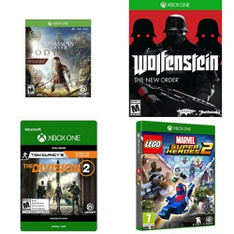 19 Pcs – Microsoft Video Games – New, Used, Open Box Like New – Tom Clancy's The Division 2 (Xbox One), Assassins Creed Odysey (Xbox One), 11821, Carnival Games, Xbox One