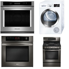 Lowes - 6 Pcs - Appliances - Laundry, Ovens / Ranges, Toasters & Ovens - New (Scratch & Dent) - WHIRLPOOL, Bosch, LG, KitchenAid