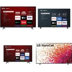18 Pcs - LED/LCD TVs - Refurbished (GRADE A, GRADE B) - TCL, Sony, LG, onn.