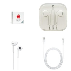 583 Pcs – Apple Accessories – Customer Returns – Models: care Protection Plan Nano/Shuffle, MD818AM/A, MD827ZM/B, MNHF2AM/A