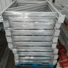 12 Pallets - 108pcs - Racking - Beams Mixed Sizes - Used Fixed Assets