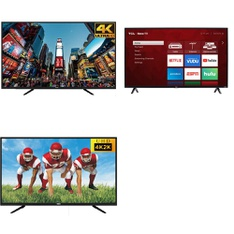 50 Pcs – LED/LCD TVs – Refurbished (GRADE A, GRADE B) – RCA, TCL