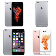 12 Pcs - Apple iPhone 6/6 Plus/6S - Refurbished (GRADE B - Unlocked) - Models: mn0w2vc/a, MG472LL/A - T, MG9M2CL/A, MN1L2LL/A - R