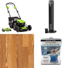 Pallet - 24 Pcs - Accessories, Mowers, Fans, Camping & Hiking - Customer Returns - GreenWorks, Select Surfaces, Mainstays, As Seen On TV