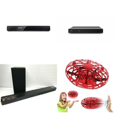 Pallet – 47 Pcs – DVD & Blu-ray Players, Drones & Quadcopters Vehicles – Customer Returns – Philips, Maximum, LG, Hover Star