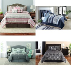 52 Pcs - Comforters and Duvets - Used, Like New, New Damaged Box, Open Box Like New - Retail Ready - Mainstay's, Better Homes & Gardens, Fieldcrest, Mainstays