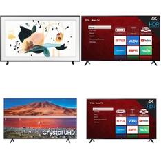 5 Pcs - LED/LCD TVs - Refurbished (GRADE C, GRADE D) - TCL, Samsung, VIZIO