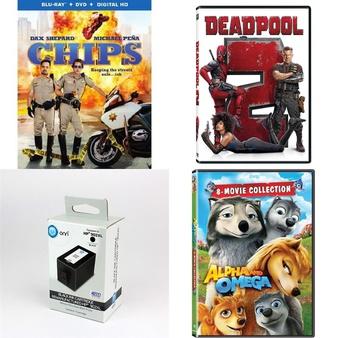 Pallet – 1368 Pcs – Blu-ray Discs, DVD Discs, Microsoft, Sony – Customer Returns – Warner Brothers, 20th Century Fox, Onn, Sony