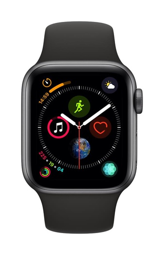5 Pcs – Apple Watch Gen 4 Series 4 Cell 40mm Space Gray Aluminum – Black Sport Band MTUG2LL/A – Refurbished (GRADE A)
