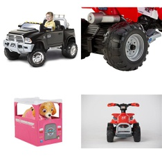 Pallet – 4 Pcs – Vehicles – Customer Returns – Kid Trax, Peg Perego, Movelo, Paw Patrol
