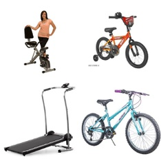 Pallet - 6 Pcs - Cycling & Bicycles - Customer Returns - Movelo, Hot Wheels, Weslo, Exerpeutic