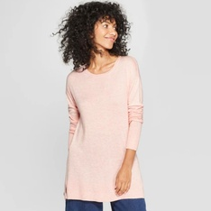 100 Pcs - A New Day Women's Crew Neck Luxe Pullover Sweater Pink XL - New - Retail Ready