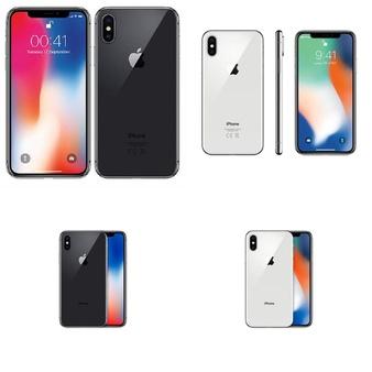 6 Pcs – Apple iPhone X – Refurbished (GRADE B – Unlocked) – Models: MQA52LL/A, MQA62LL/A – TF, MQA62LL/A, MQA82LL/A