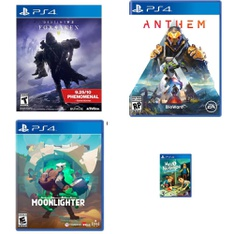 10 Pcs – Sony Video Games – New – Destiny 2: Forsaken Legendary Collection (PS4), Moonlighter PlayStation 4, Anthem (PS4), Assassin's Creed III: Remastered (PS4)