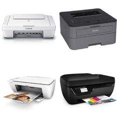 CLEARANCE! 276 Pcs - All-In-One, Inkjet, Laser - Customer Returns - HP, Canon, Brother, EPSON