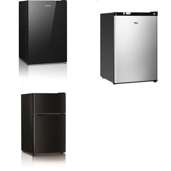 Pallet – 8 Pcs – Bar Refrigerators & Water Coolers – Customer Returns – HISENSE