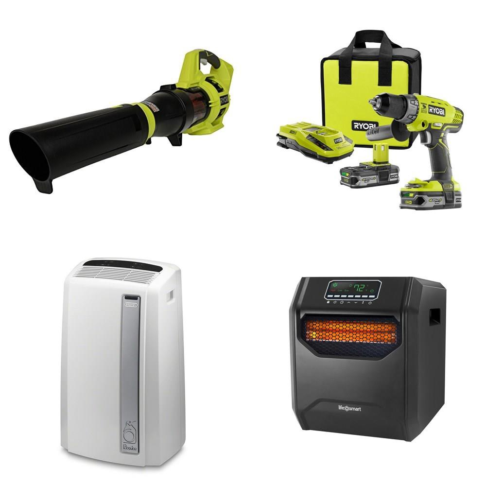 Pallet - 15 Pcs - Leaf Blowers & Vaccums, All-In-One, Scanners, Air  Conditioners - Tested Not Working - RYOBI, DeLonghi, LifeSmart, Bunn