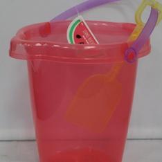 150 Pcs - Bullseyes Playground Sand Bucket With Shovel - Pink - New - Retail Ready