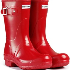 8 Pcs – Hunter WFS1000RGL Women's Original Short Gloss Rain Boots, 8 M US, Military Red – New – Retail Ready
