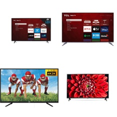 6 Pcs – LED/LCD TVs – Refurbished (GRADE A) – TCL, LG, RCA