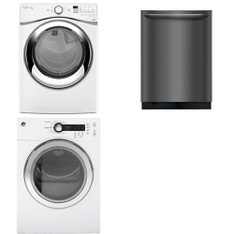 3 Pcs - Major Appliances - Laundry - New - WHIRLPOOL, Frigidaire, GE