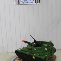 Pallet – Action Wheels 24 Volt Thunder Tank Ride-On With Working Cannon and Rotating Turret – Damaged/Missing Parts