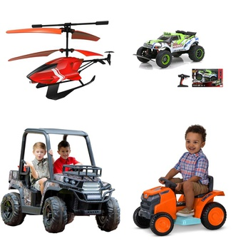 6 Pallets – 118 Pcs – Vehicles, Trains & RC, Vehicles, Unsorted, Powered – Customer Returns – New Bright, Adventure Force, Realtree, Sky Rover